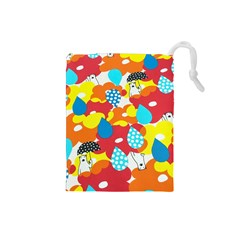 Bear Umbrella Drawstring Pouches (Small)