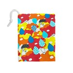 Bear Umbrella Drawstring Pouches (Medium)  Back