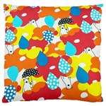 Bear Umbrella Large Flano Cushion Case (Two Sides) Back