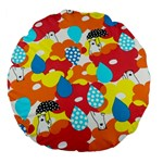 Bear Umbrella Large 18  Premium Flano Round Cushions Front