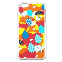 Bear Umbrella Apple Iphone 6 Plus/6s Plus Enamel White Case