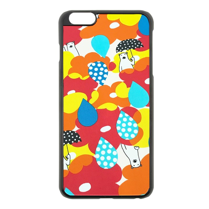 Bear Umbrella Apple iPhone 6 Plus/6S Plus Black Enamel Case