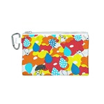 Bear Umbrella Canvas Cosmetic Bag (S) Front