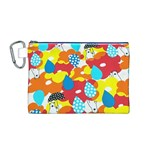 Bear Umbrella Canvas Cosmetic Bag (M) Front