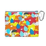 Bear Umbrella Canvas Cosmetic Bag (L) Back