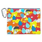 Bear Umbrella Canvas Cosmetic Bag (XXL) Front
