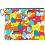 Bear Umbrella Canvas Cosmetic Bag (XXXL) Front