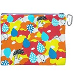 Bear Umbrella Canvas Cosmetic Bag (XXXL) Back
