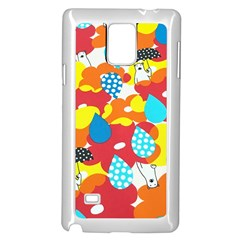Bear Umbrella Samsung Galaxy Note 4 Case (white)
