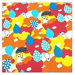 Bear Umbrella Large Satin Scarf (Square) Front