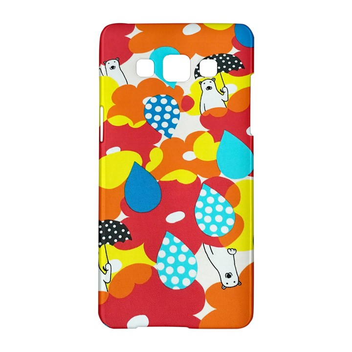 Bear Umbrella Samsung Galaxy A5 Hardshell Case