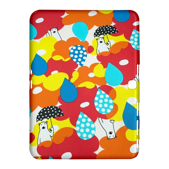 Bear Umbrella Samsung Galaxy Tab 4 (10.1 ) Hardshell Case