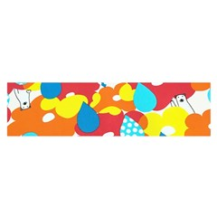 Bear Umbrella Satin Scarf (Oblong)