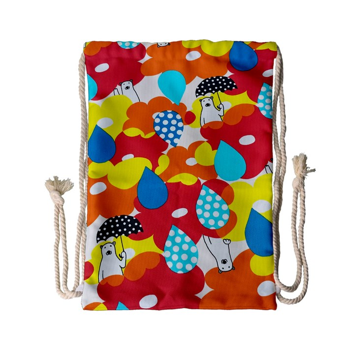 Bear Umbrella Drawstring Bag (Small)