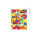 Bear Umbrella Drawstring Pouches (XS)  Front