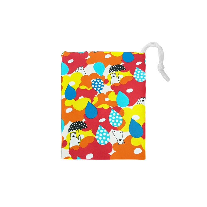 Bear Umbrella Drawstring Pouches (XS)