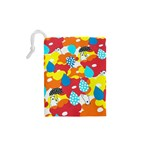 Bear Umbrella Drawstring Pouches (XS)  Back