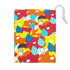 Bear Umbrella Drawstring Pouches (extra Large)