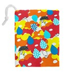 Bear Umbrella Drawstring Pouches (Extra Large) Back