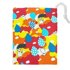 Bear Umbrella Drawstring Pouches (XXL)
