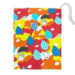 Bear Umbrella Drawstring Pouches (XXL) Front