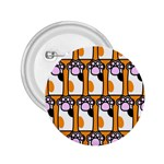 Cute Cat Hand Orange 2.25  Buttons Front