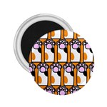 Cute Cat Hand Orange 2.25  Magnets Front