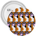 Cute Cat Hand Orange 3  Buttons Front