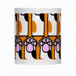 Cute Cat Hand Orange White Mugs Center