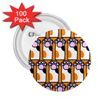 Cute Cat Hand Orange 2.25  Buttons (100 pack)  Front