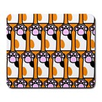 Cute Cat Hand Orange Large Mousepads Front