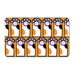 Cute Cat Hand Orange Magnet (Rectangular) Front