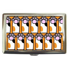 Cute Cat Hand Orange Cigarette Money Cases