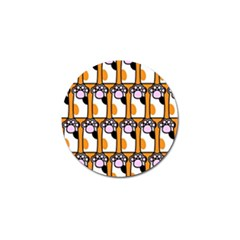 Cute Cat Hand Orange Golf Ball Marker