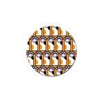 Cute Cat Hand Orange Golf Ball Marker (4 pack) Front