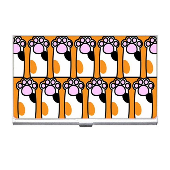 Cute Cat Hand Orange Business Card Holders