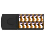 Cute Cat Hand Orange USB Flash Drive Rectangular (2 GB)  Front