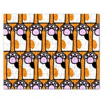 Cute Cat Hand Orange Rectangular Jigsaw Puzzl Front