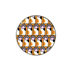 Cute Cat Hand Orange Hat Clip Ball Marker (4 pack)