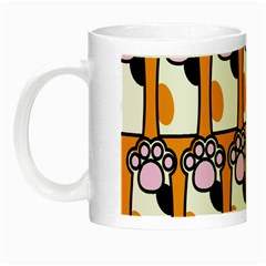 Cute Cat Hand Orange Night Luminous Mugs