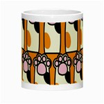 Cute Cat Hand Orange Night Luminous Mugs Center