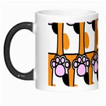 Cute Cat Hand Orange Morph Mugs Left