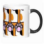 Cute Cat Hand Orange Morph Mugs Right
