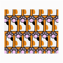 Cute Cat Hand Orange Small Glasses Cloth