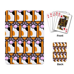 Cute Cat Hand Orange Playing Card