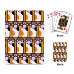 Cute Cat Hand Orange Playing Card Back