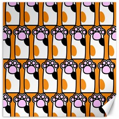 Cute Cat Hand Orange Canvas 12  x 12