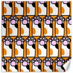 Cute Cat Hand Orange Canvas 12  x 12   12 x12 Canvas - 1