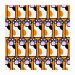 Cute Cat Hand Orange Medium Glasses Cloth Front