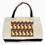 Cute Cat Hand Orange Basic Tote Bag (Two Sides) Back